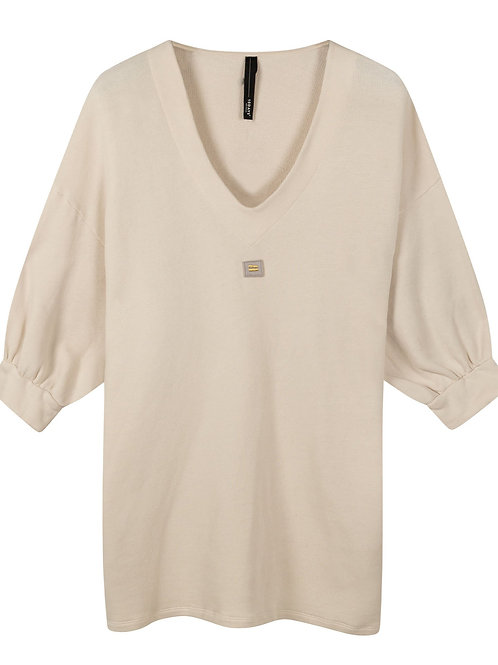 10 DAYS V-neck tunic fleece