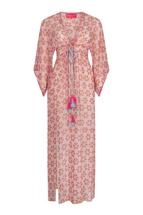 Place du Soleil | Kleid lang peach