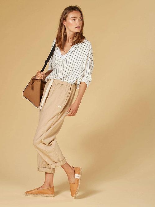 10 DAYS blouse pinstripe white