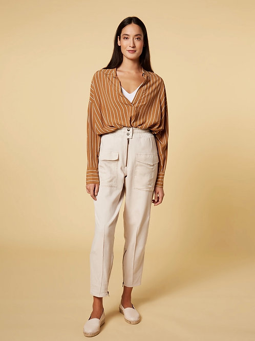 10 DAYS blouse pinstripe caramel
