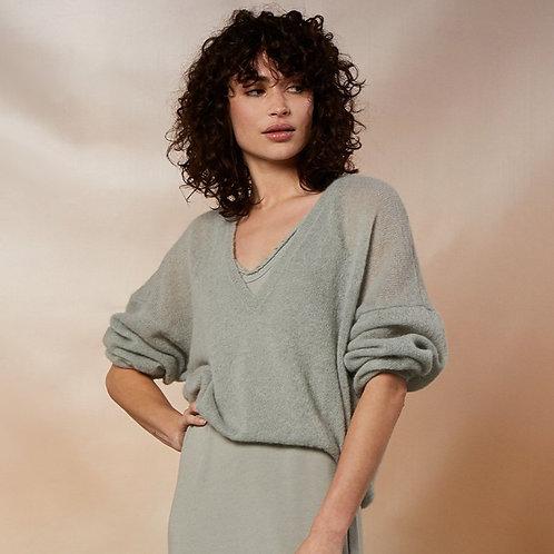10 DAYS thin sweater v-neck pistache