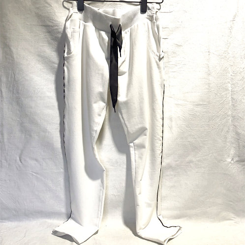 10 DAYS Jogger piping white
