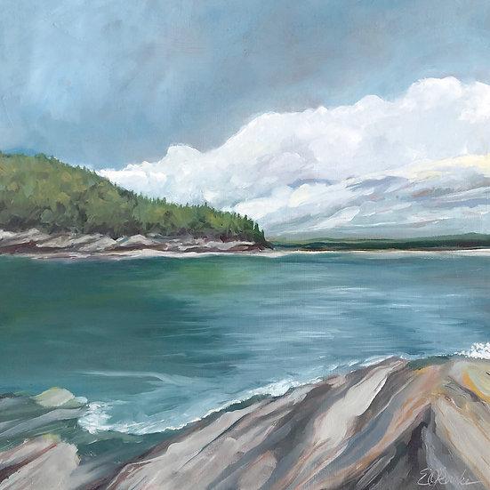 "Verna Vista - oil on canvas, 12"" x 12"""