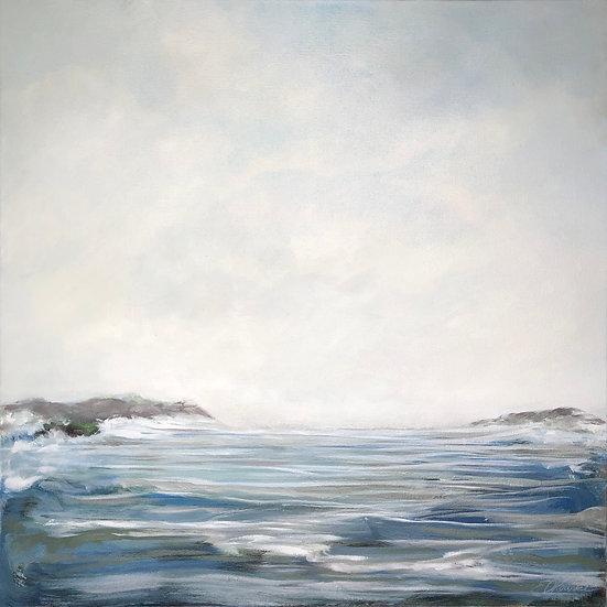 "Coastal Clouds - oil on canvas, 24"" x 24"", $1650"