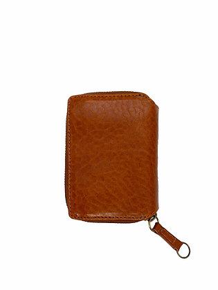PAULINE mini Wallet, cognac