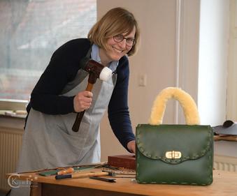 Astrid Jansen Leder Taschen Workshop Fellbezug