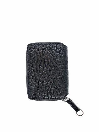 PAULINE mini Wallet, black Bison leather