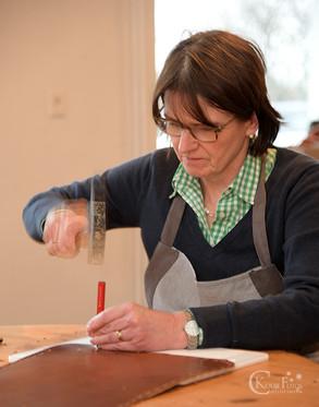 Astrid Jansen Leder Taschen Workshopür die Naht