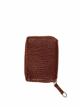 PAULINE mini Wallet, hazeltnut, Bison Leather