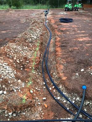 Neue Wasserleitungen sind gelegt