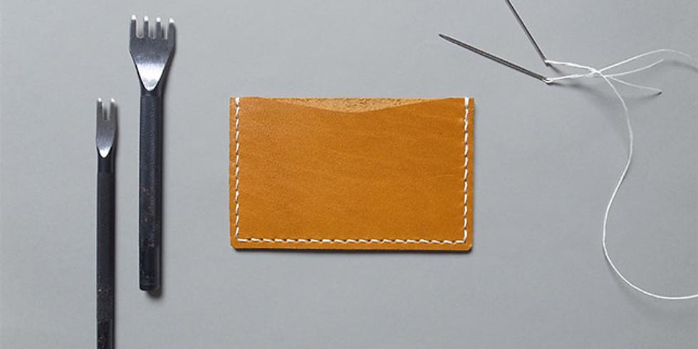 2月開催「手縫いで作る革のカードケース」ワークショップ