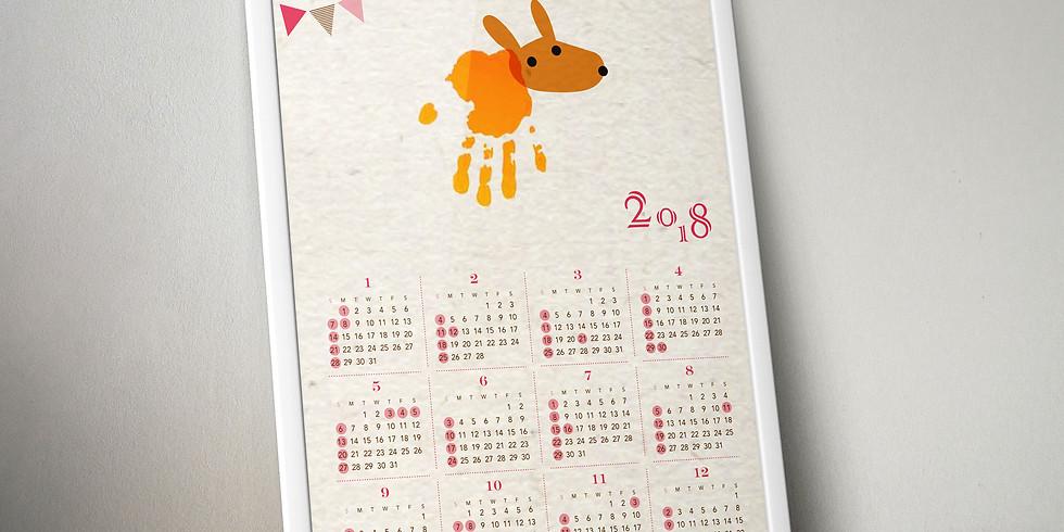 2018年子ども手形スタンプカレンダーワークショップ