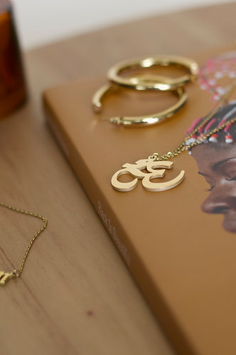 Woman in OM Necklace