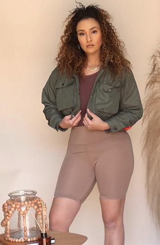 Everyday Im Her | Camel Biker Shorts