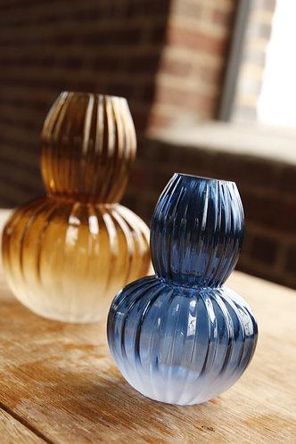 MDRN. Studio 56 Vases   Amber + Blue Ombre Vases