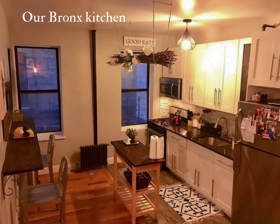 Our humble, tiny Bronx kitchen area