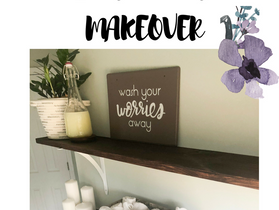 Master Bathroom Makeover for Under $350 Bucks
