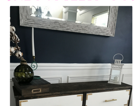 If Rustic & Glam had a baby & it was a sideboard- $60 Ikea Hack
