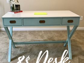 8$ Holla- Boss Lady Desk on a Budget