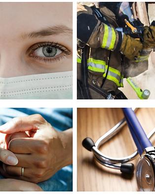 pompiers, ambulancier, soignants, médecins, professions du care, infirmier, infirmière