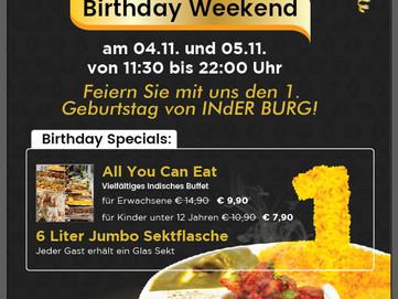 INdER BURG feiert den 1. Geburtstag!