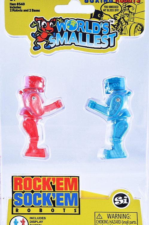 World's Smallest Rock'Em Sock'Em Robots