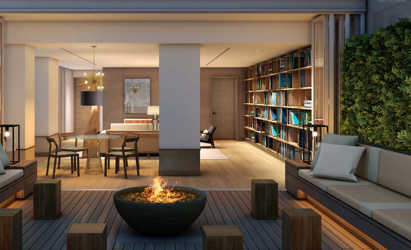 Residential Library & Fire pit
