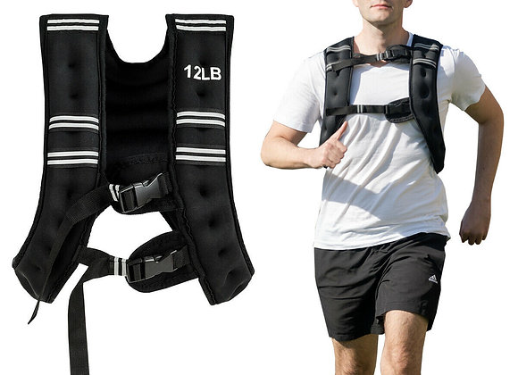 Adjustable Training Workout Weighted Vest with Mesh Bag