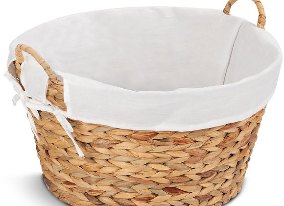 Set of 2 Large Seagrass Laundry Storage Basket