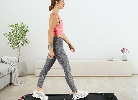 2-in-1 Folding Treadmill with RC Bluetooth Speaker LED Display