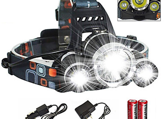 Waterproof Rechargeable 6000 lm LED Headlamps