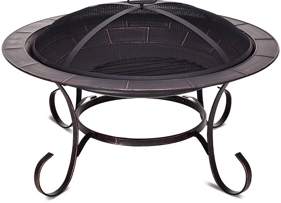 "30"" Outdoor Fire Pit BBQ"