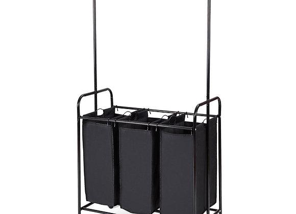 3 Bag Rolling Laundry Sorter Cart Hamper Organizer