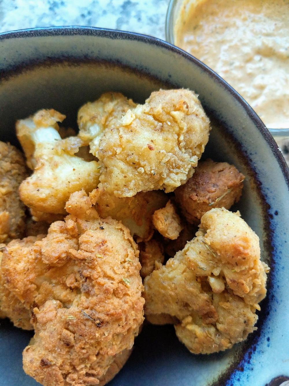 "Kickin Cauliflower ""chicken"" Wings - Keto - Paleo- Low Carb - Anti-inflammatory Recipes"