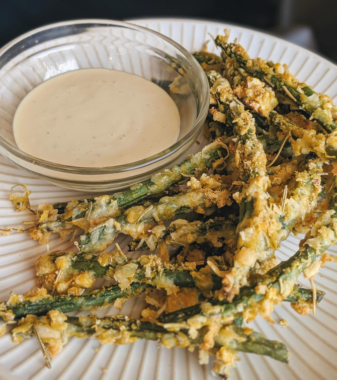 The Best Green Bean Fries Recipe with Dipping Sauce