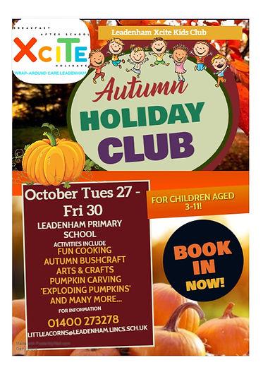 XCITE October Half Term Holiday Club Lea