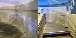 SLC Brighton Curved Wall Before and Afte
