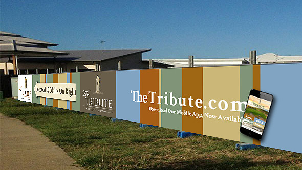Tribute promo for construction fencing around the property.