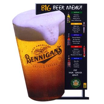 Big Beer Promotional Free-Standing Display.
