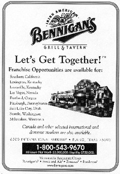Franchise Ad - series of  advertisements in Restaurant News Publication.