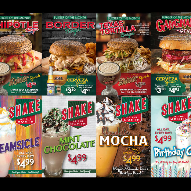 Jakes - Monthly Marketing Promotions
