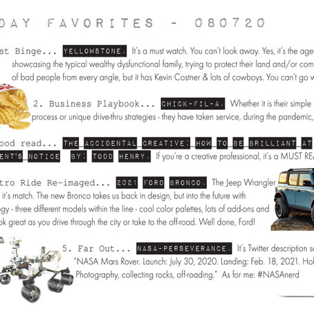 Friday Favorites - 08/07/20