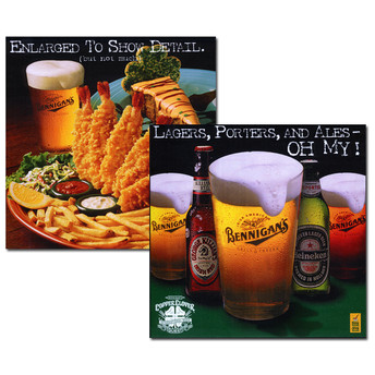 Promotional Bar Translight Posters.