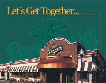 Franchise Packet for Bennigan's under Metromedia Restaurant Group