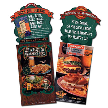 Mother's Day & Father's Day Promotions - Big Holiday occasion promos for Bennigan's.