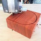 Bandsaw circle cutting jig