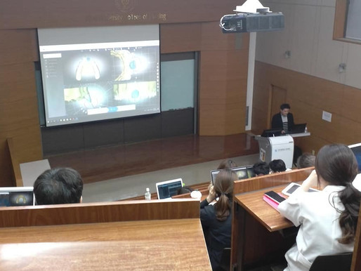 DIORCO demonstrates AUTOLIGN to Ajou University's graduate students of Clinical Dentistry