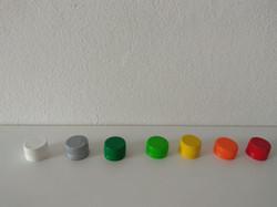 Tapas de colores a rosca
