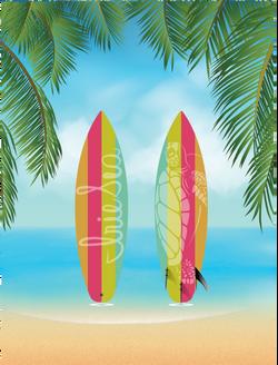Irie Sea Festival Rainbow Surfboard
