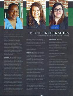Peace College Spring '13 Internships